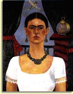 """Autoretrato """"El tiempo vuela"""" de Frida Kahlo"""
